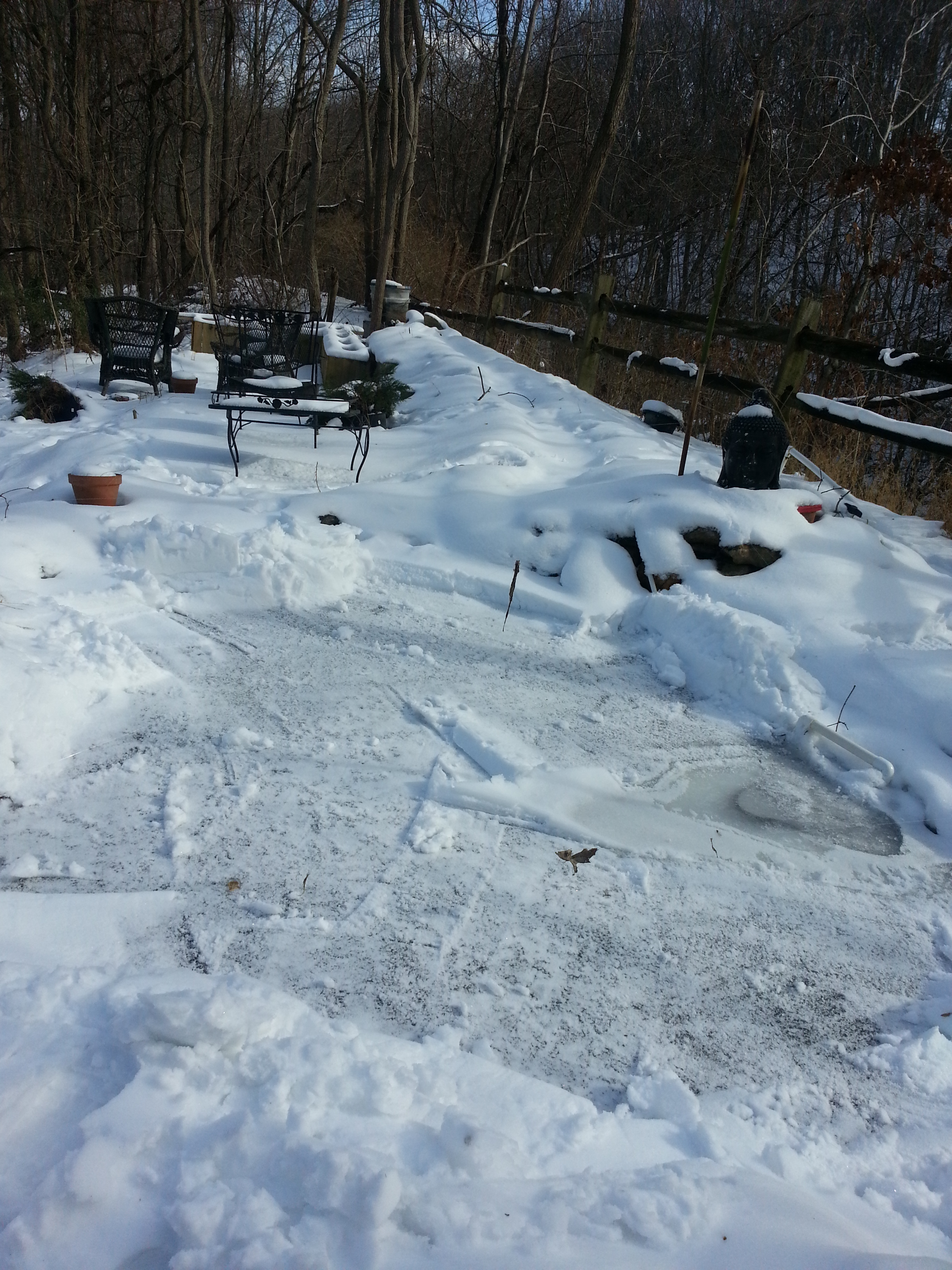 Koi ponds in cold cold climates for Biggest koi pond
