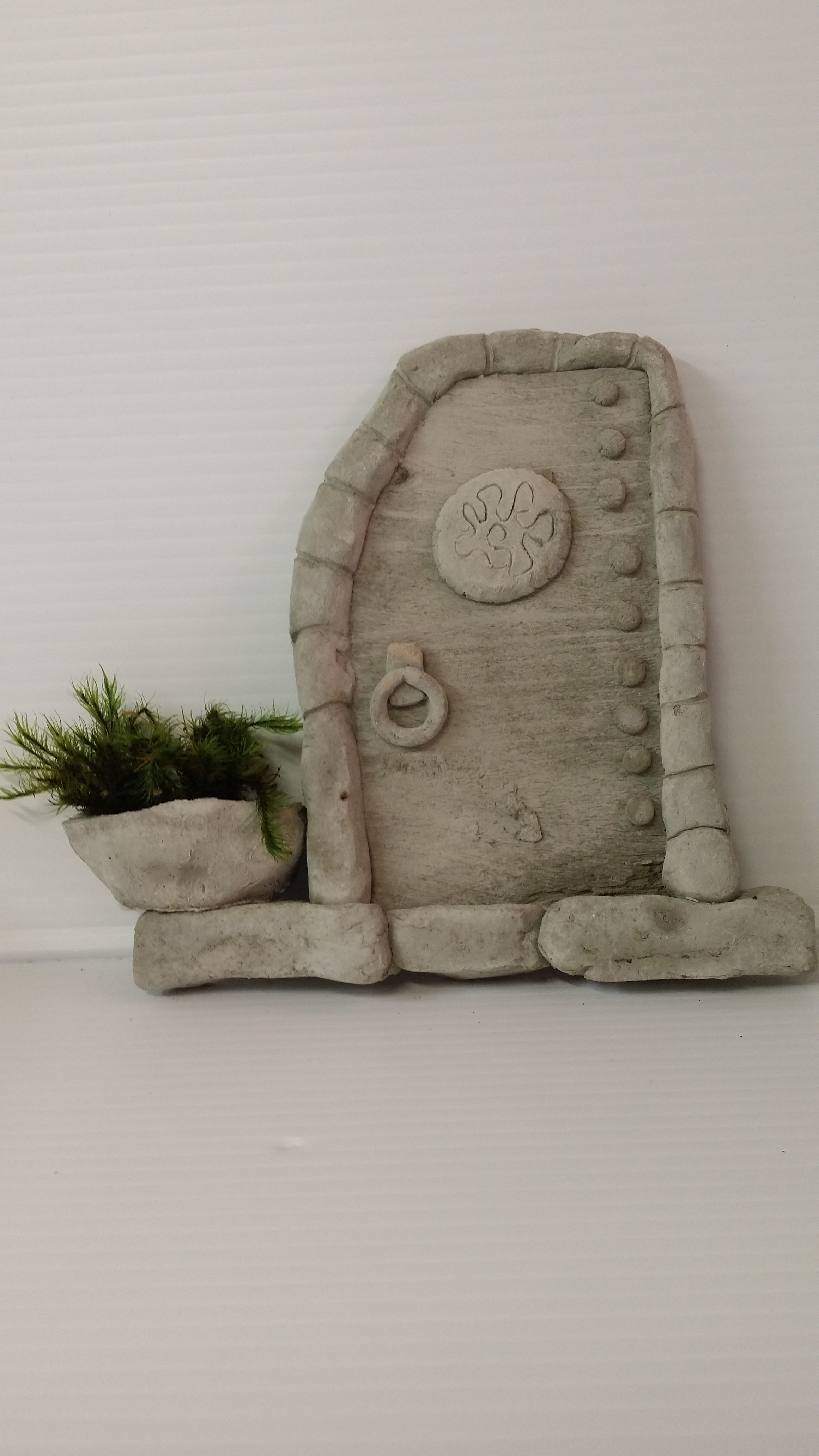 cement fairy door